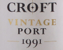 Croft 1991 Port label