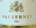 Sauternes label