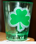 shamrock on glass
