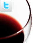 wine glass plus Twitter logo